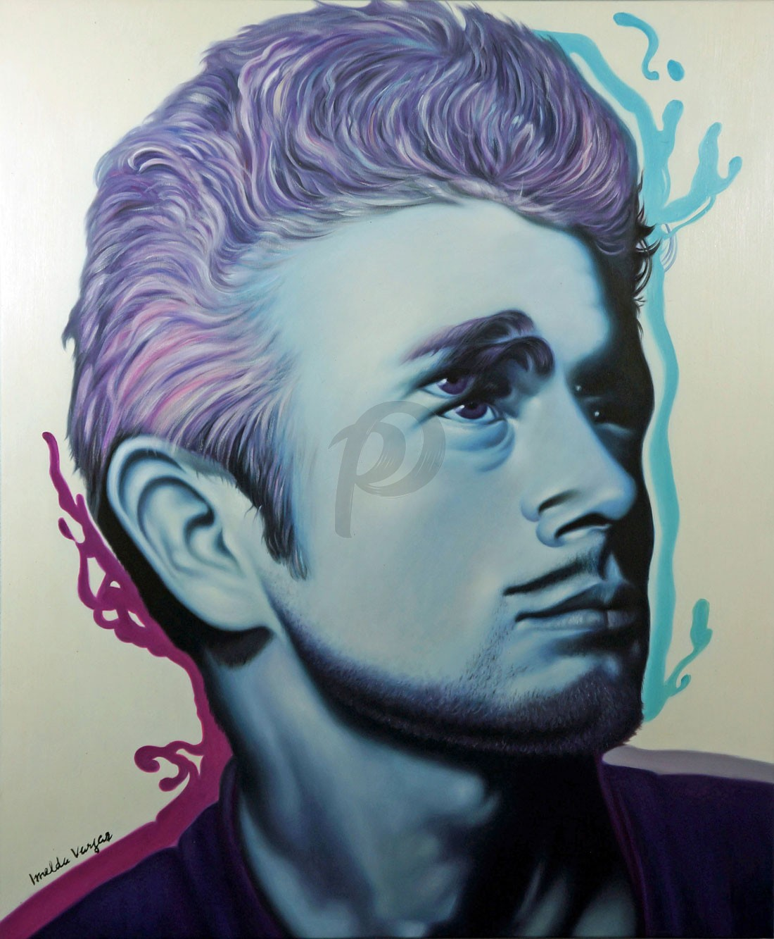 James Dean - Forever Young by Imelda Vargas (Hand-Painted Original)