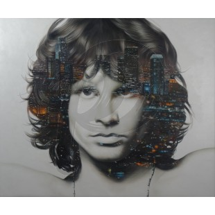 Jim Morrison - City of Angels by Cam Nguyen (Hand-Painted Original)