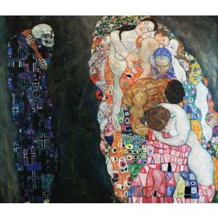 Gustav Klimt - Death and Life (Hand-Painted)