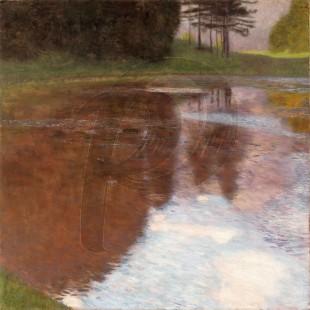 Gustav Klimt - Tranquil Pond (Hand-Painted)