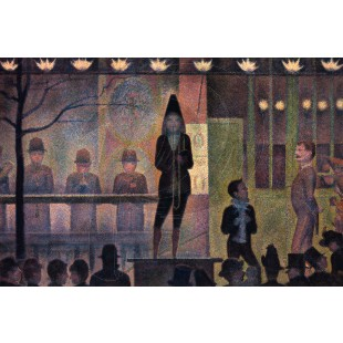 Georges Seurat - Invitation to the Sideshow (Hand-Painted)