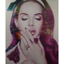 Lana Del Rey - La La Land by Cam Nguyen (Hand-Painted Original)