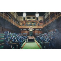 Banksy - Monkey Parliament (Hand-Painted Reproduction)
