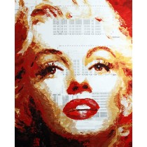 Havi Schanz - Marilyn on Blueprint (Hand-Painted Reproduction)
