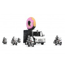 Banksy - Donut Police (Hand-Painted Reproduction)