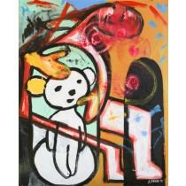 Sebastian Bieniek - The Unfinished Bear (Hand-Painted Reproduction)