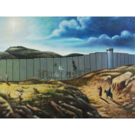 Banksy - Christmas Card (Hand-Painted Reproduction)