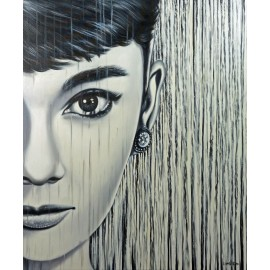 Audrey Hepburn - I'm Possible Linh Kim (Hand-Painted Original)