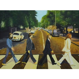 Beatles Crossing the Abbey Road (Hand-Painted Reproduction)