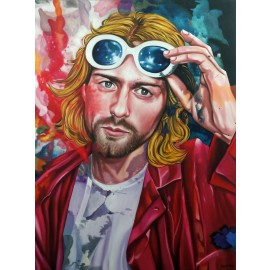 Kurt Cobain - Who I am by Cam Ton (Hand-Painted Original)