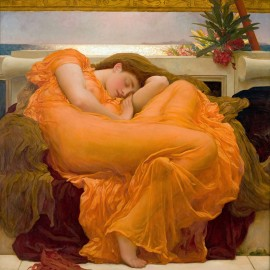 Frederic Lord - Leighton Flaming June (Hand-Painted)