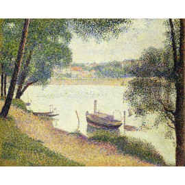 Georges Seurat - The Seine At La Grande Jatte In The Spring (Hand-Painted)