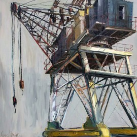 Gerard Byrne - Lever Crane (Hand-Painted Reproduction)