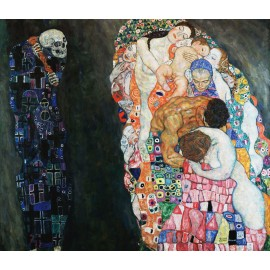 Gustav Klimt - Death and Life (Hand-Painted)