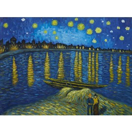 Vincent Van Gogh - The Starry Night Over The Rhone (Hand-Painted)