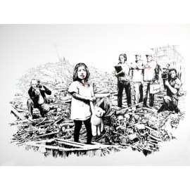 Banksy - Child Survivor Media (Hand-Painted Reproduction)