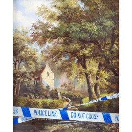 Banksy - Crime Watch (Hand-Painted Reproduction)
