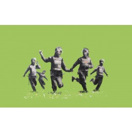 Banksy - Riot Coppers (Hand-Painted Reproduction)
