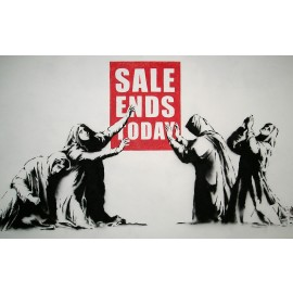 Banksy - Sale Ends Today (Hand-Painted Reproduction)