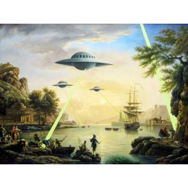 Banksy - UFO (Hand-Painted Reproduction)