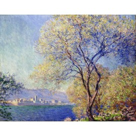 Claude Monet - Antibes Seen from the Salis Gardens 1888 (Hand-Painted)