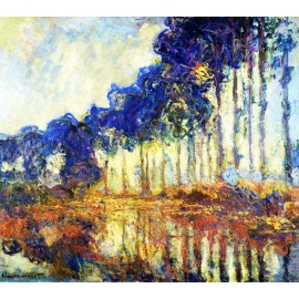 Claude Monet - Poplars on the Banks of the River (Hand-Painted)