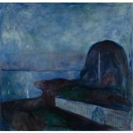 Edvard Munch - Starry Night (Hand-Painted)