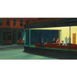 Edward Hopper - Nighthawks (Hand-Painted)