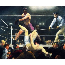 George Bellows - Dempsey and Firpo (Hand-Painted)