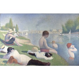 Georges Seurat - Bathers at Asnieres (Hand-Painted)