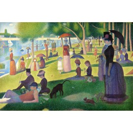 Georges Seurat - A Sunday Afternoon on the Island of La Grande Jatte (Hand-Painted)