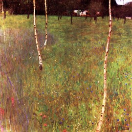 Gustav Klimt - Farmhouse With Birch Trees (Hand-Painted)