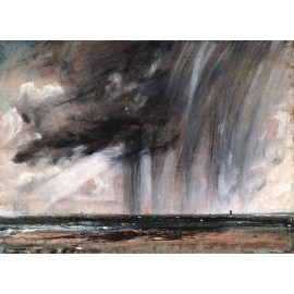 John Constable - Seascape Study with Rain Cloud (Hand-Painted)