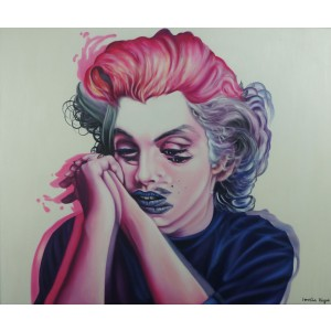 Marilyn Monroe - Imperfection by Imelda Vargas (Hand-Painted Original)