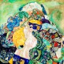 Gustav Klimt - Baby Cradle (Hand-Painted)