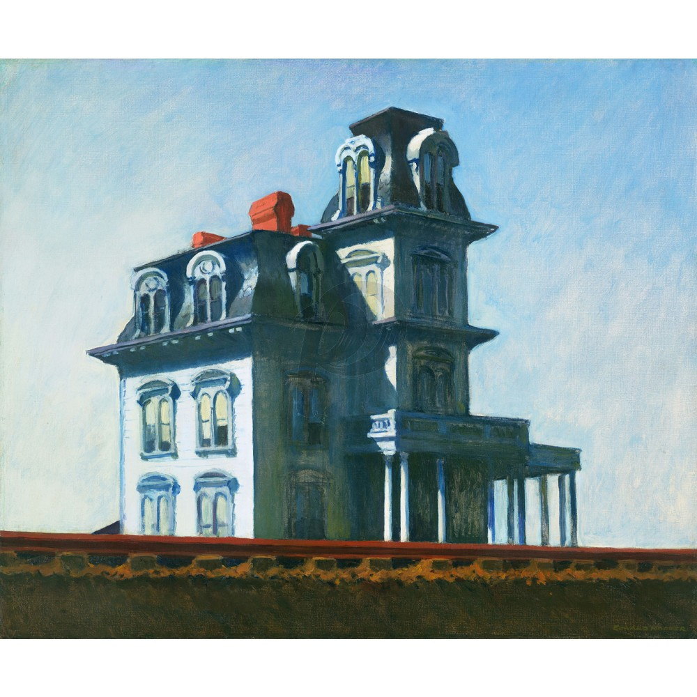The House By The Railroad (Hand-Painted