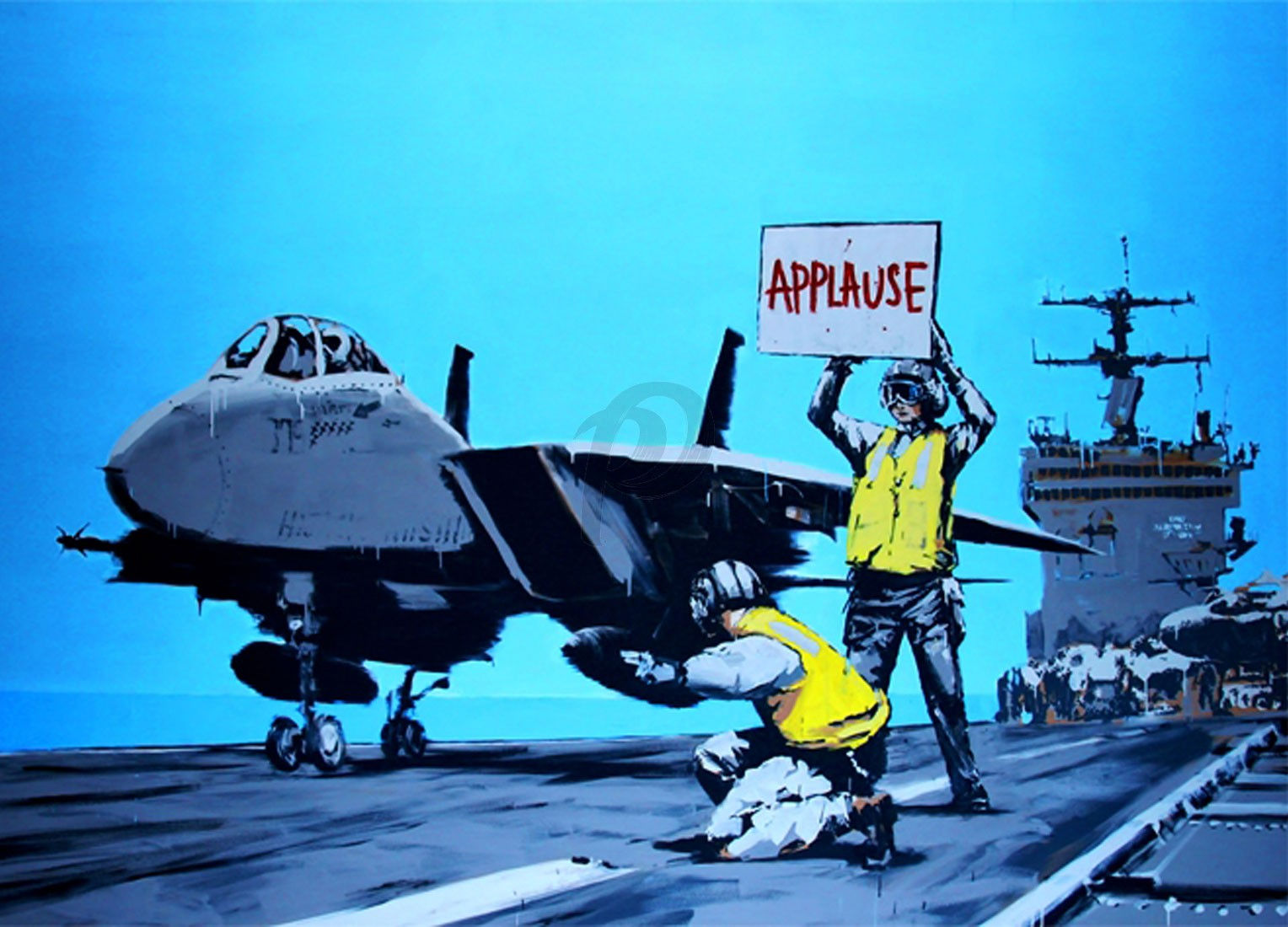 Banksy - Applause (Hand-Painted Reproduction)