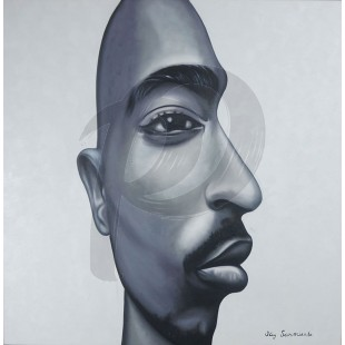 TuPac - Eye on Me by Jay Sarmiento (Hand-Painted Original)