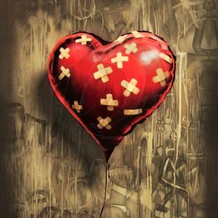 Banksy - Heart Balloon (Hand-Painted Reproduction)