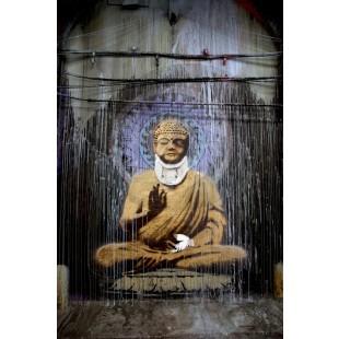 Banksy - Injured Buddha (Hand-Painted Reproduction)