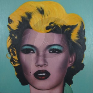 Banksy - Kate Moss (Hand-Painted Reproduction)