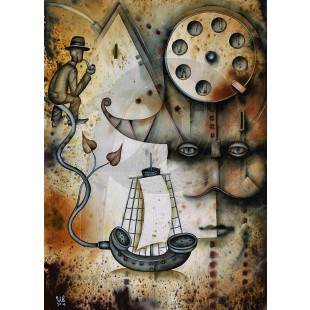 Eugene Ivanov - Telephone Line (Hand-Painted Reproduction)