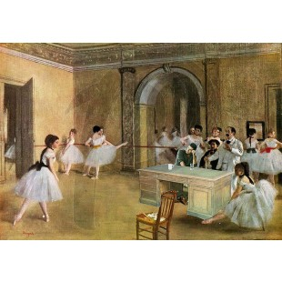 Banksy - Simon Cowell in Degas Ballet (Hand-Painted Reproduction)