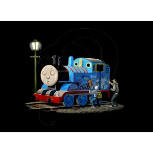 Banksy - The Thomas The Tank Engine (Hand-Painted Reproduction)
