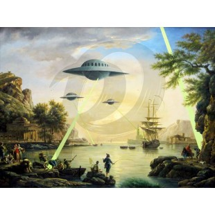 Banksy - UFO Invasion(Hand-Painted Reproduction)