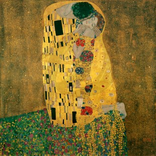 Gustav Klimt - The Kiss (Hand-Painted)