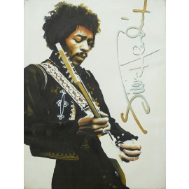 Jimi Hendrix (Hand-Painted Reproduction)