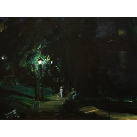 George Bellows - Summer Night Riverside Drive (Hand-Painted)