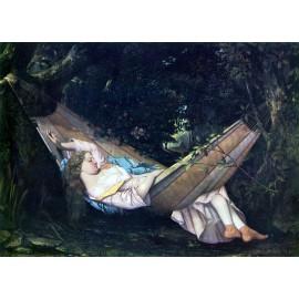 Gustave Courbet - Die Hängematte (Hand-Painted)