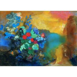 Odilon Redon - Ophelia among the Flowers (Hand-Painted)